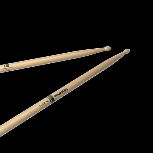 Promark Promark Classic Natural Hickory 5A Wood Tip Drum Sticks