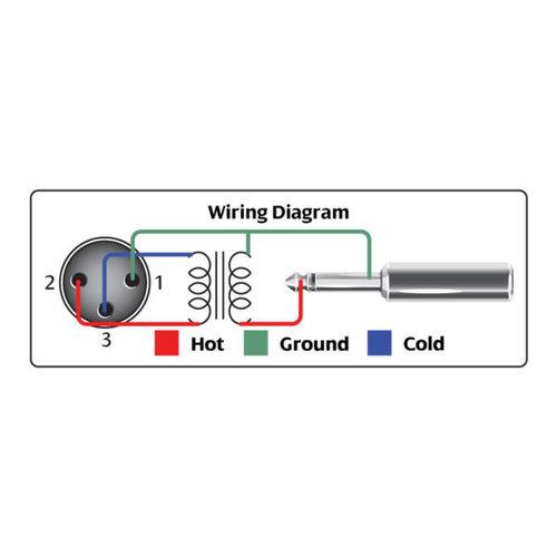 Hosa Impedance Transformer, XLR3F to 1/4 in TS