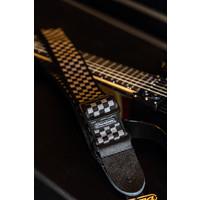 Dunlop Guitar Strap - Classic Black & White Check