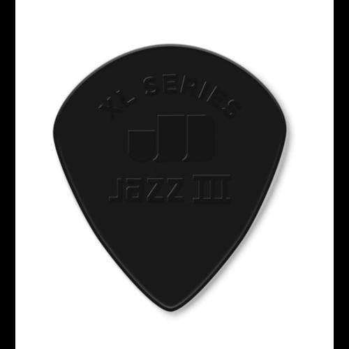 Dunlop Dunlop Nylon Jazz III XL Guitar Pick - Black Stiffo