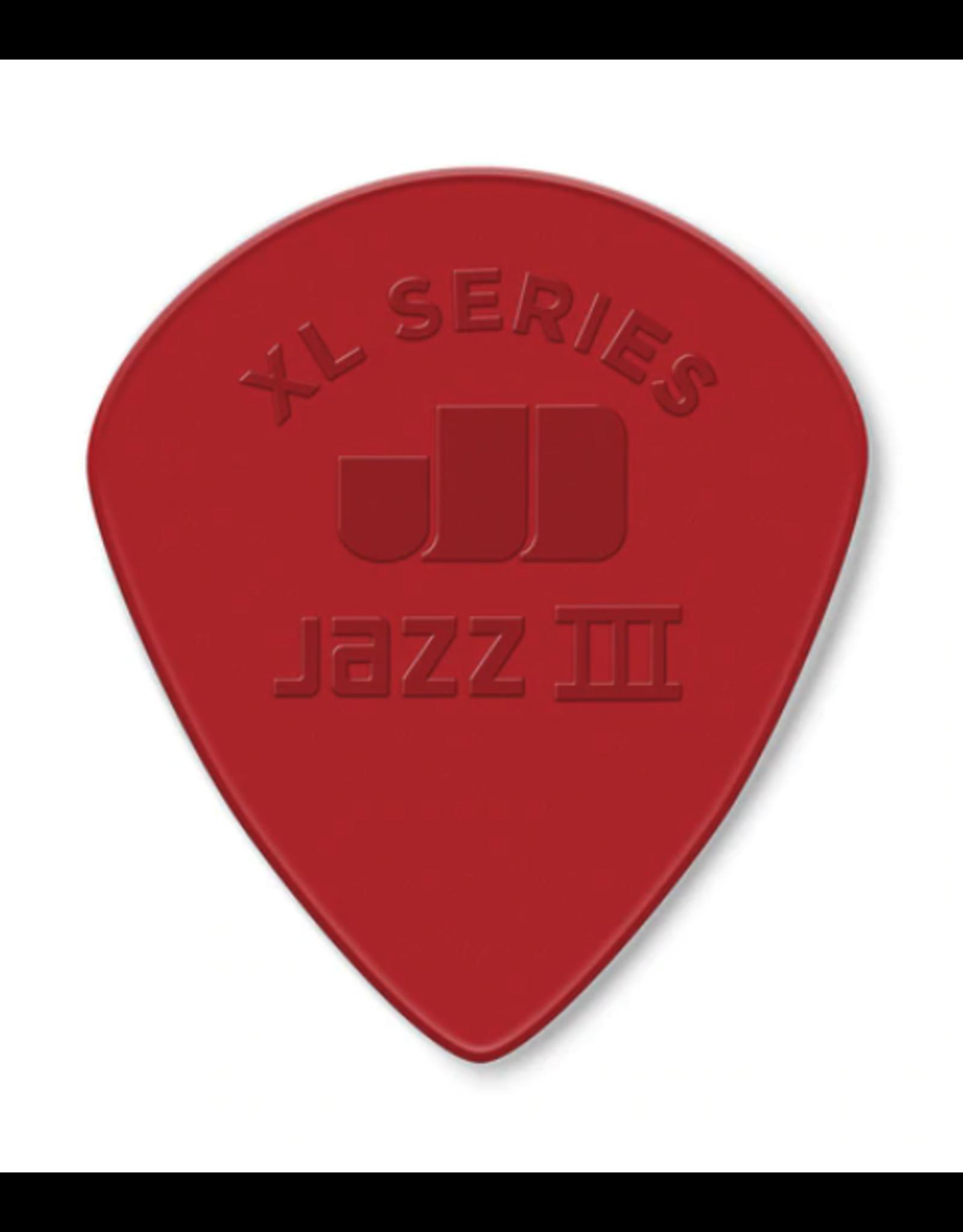 Dunlop Dunlop Nylon Jazz III XL Guitar Pick - Red Nylon
