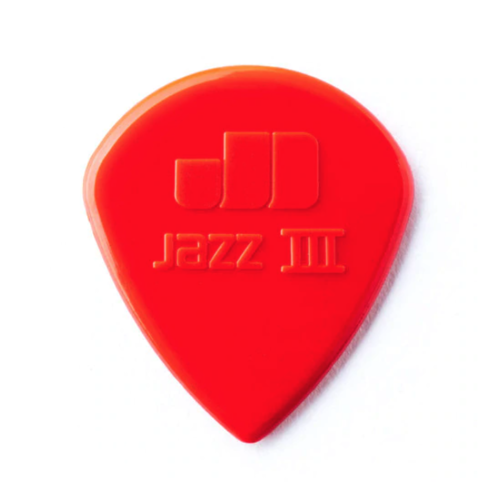 Dunlop Dunlop Nylon Jazz III Guitar Pick - Red Nylon
