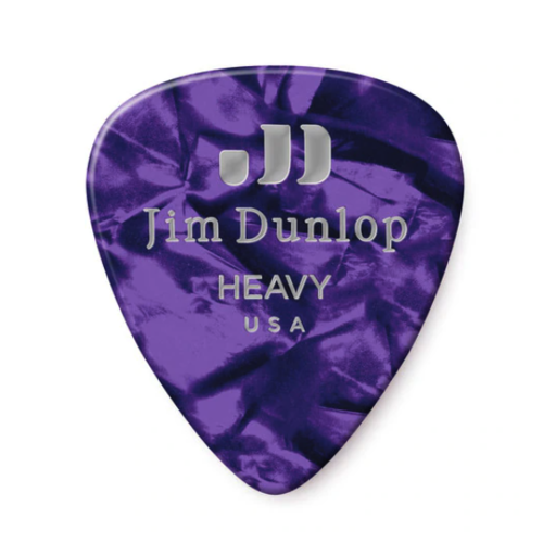 Dunlop Dunlop Purple Pearl Classic Guitar Pick - Heavy