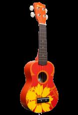 Amahi Amahi Orange Flower Ukulele, Soprano