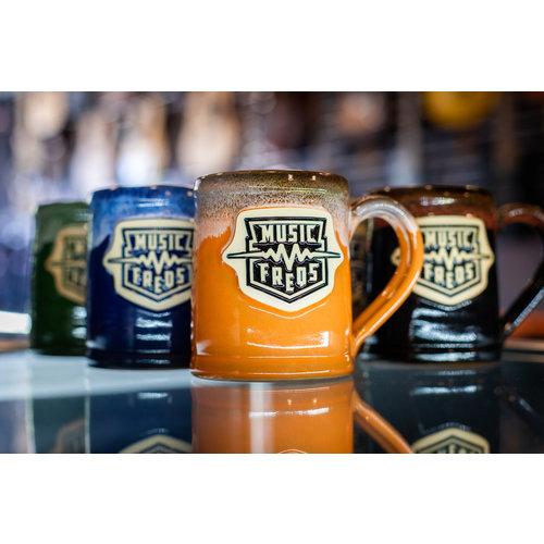 Deneen Pottery Music Freqs Mug - Orange