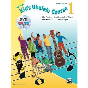 Alfred Music Kid's Ukulele CRS 1 Book DVD and AVCO