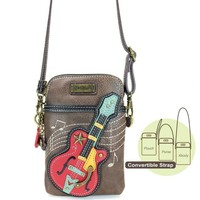 Chala Guitar Crossbody - Cell Phone Xbody  - brown
