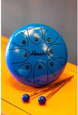 """Amahi Amahi 8"""" Steel Tongue Drum, Blue"""
