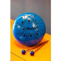 "Amahi 8"" Steel Tongue Drum, Blue"