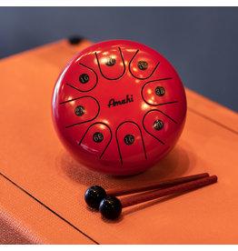 "Amahi Amahi 6"" Steel Tongue Drum, Red"