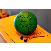 "Amahi 8"" Steel Tongue Drum, Green"