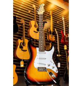 Aria Aria Pro II STG Series Electric Guitar - 3 Tone Sunburst White Pickguard