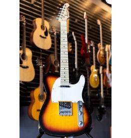 Aria Aria Pro II 615-Frontier Series Electric Guitar - 3 Tone Sunburst w/Maple Fingerboard