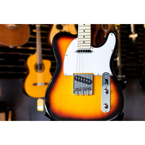 Aria Aria Pro II 615-Frontier Series Electric Guitar - 3 Tone Sunburst w/Maple Fingerboard