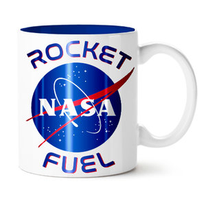 Silver Buffalo Nasa Rocket Fuel Logo Ceramic Mug - 14oz