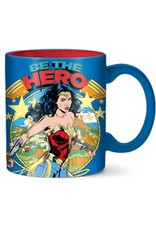 Silver Buffalo Wonder Woman Retro Cover be the Hero Ceramic Mug - 14oz