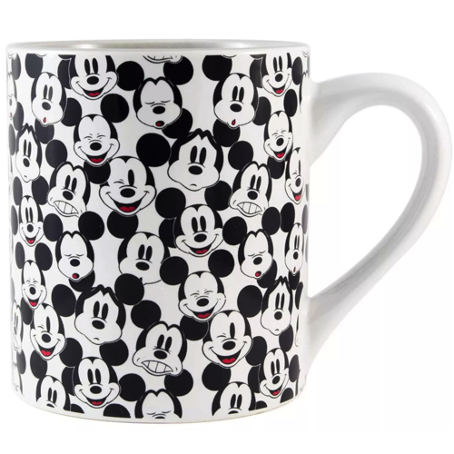 Silver Buffalo Mickey Mouse Face Pattern Ceramic Mug - 14oz