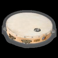 "CP 10"" Single Row Tambourine Steel"
