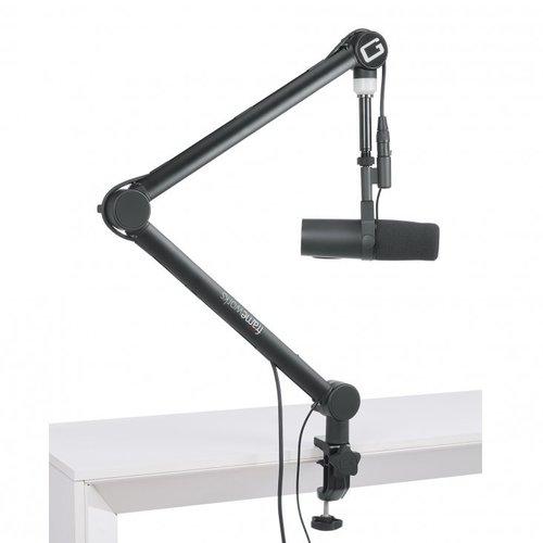 Gator Frameworks Professional Broadcast Boom Mic Stand W/ Led Light