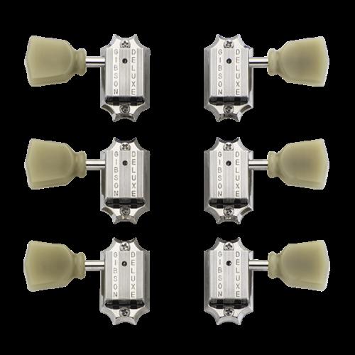 Gibson Deluxe Green Key Tuner Set (Vintage Nickel)