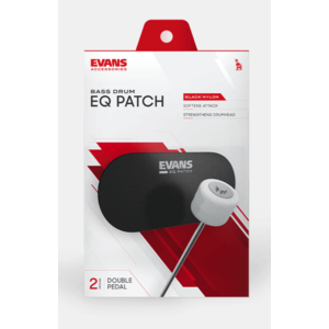 Evans Evans EQ Double Pedal Patch, Black Nylon