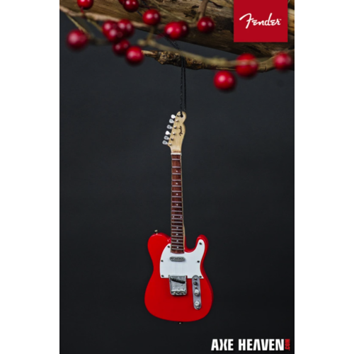 "Axe Haven 6"" FENDER 50s Red Telecaster Mini Guitar Ornament"