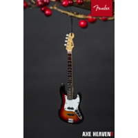 "6"" FENDER Sunburst Jazz Bass Guitar Holiday Ornament"