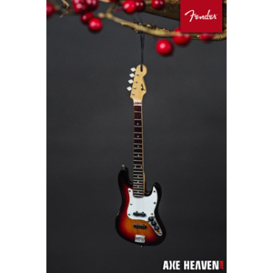 "Axe Haven 6"" FENDER Sunburst Jazz Bass Guitar Holiday Ornament"