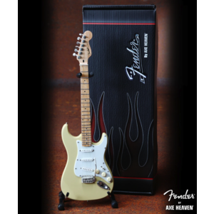 Axe Haven Cream Fender Strat Miniature Guitar Replica - Officially Licensed