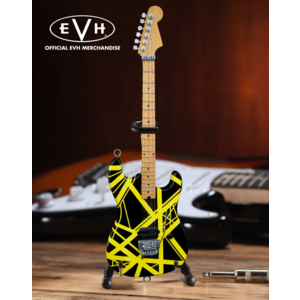 "Axe Haven EVH  ""Bumblebee"" Eddie Van Halen Mini Guitar Replica Collectible Black & Yellow VH2 - Officially Licensed"