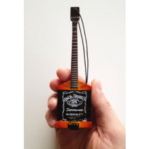 "Axe Haven Jack Daniel's Bass Guitar Ornament - 6"" Miniature Replica Collectible"