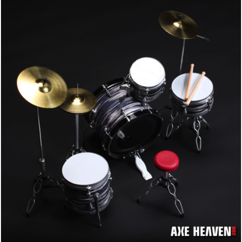 Axe Haven Ringo Starr Classic Oyster Miniature Drum Set Replica Collectible