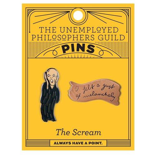 The Unemployed Philosophers Guild Scream & Melancholy Pin