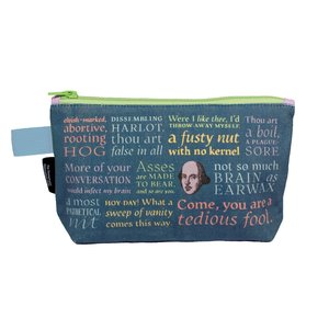 The Unemployed Philosophers Guild Shakespearean Insults Zipper Bag