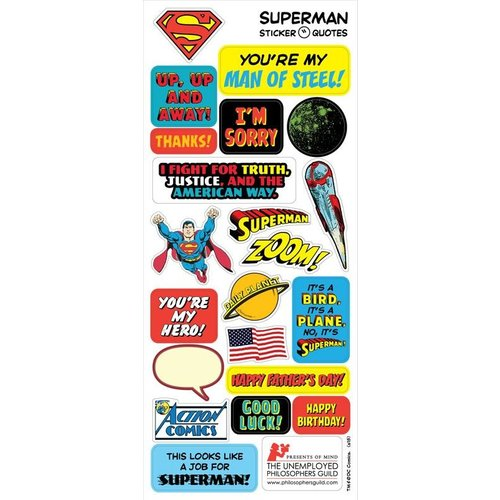 The Unemployed Philosophers Guild Superman Quotable Notable Notecard