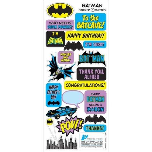 The Unemployed Philosophers Guild Batman Quotable Notable Notecard