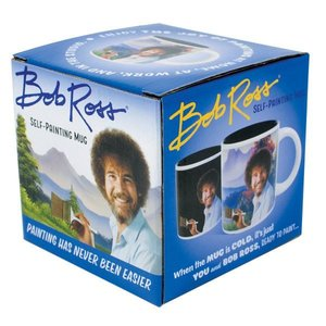 The Unemployed Philosophers Guild Bob Ross Self-Painting Mug