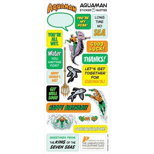 The Unemployed Philosophers Guild Aquaman Quotable Notable Note Card