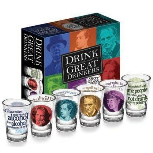 The Unemployed Philosophers Guild Great Drinkers Shot Glasses