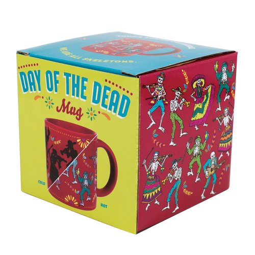 """The Unemployed Philosophers Guild Day of the Dead """"Transforming"""" Mug"""