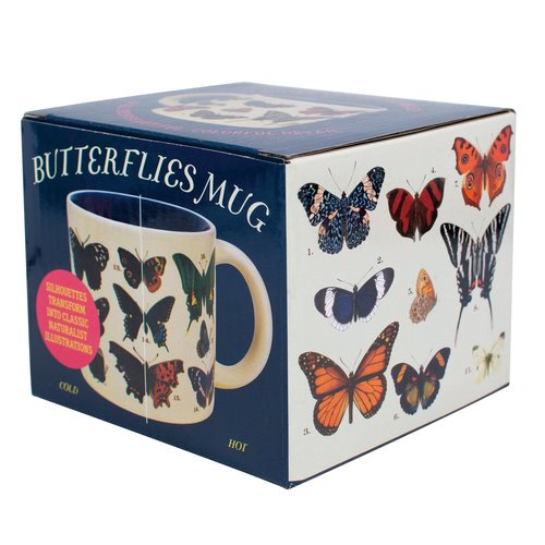 """The Unemployed Philosophers Guild Butterfly """"Transforming"""" Mug"""