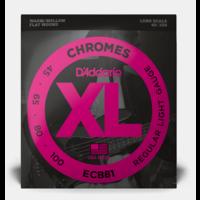 D'Addario Chromes Flatwound Bass Strings .045-.100