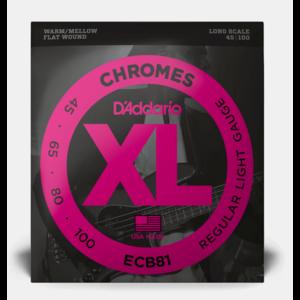D'Addario D'Addario Chromes Flatwound Bass Strings .045-.100
