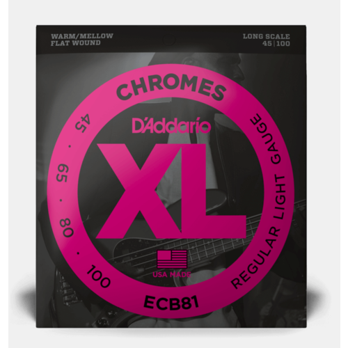 D'Addario D'Addario Chromes Flatwound Bass Strings .045-.100