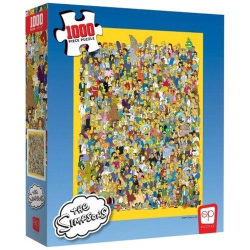 The Op Puzzle: Simpsons Cast Thousands 1000pc