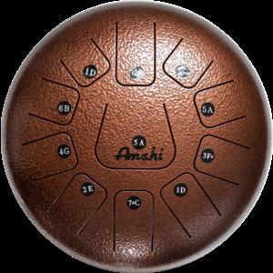 "Amahi Amahi 12"" Steel Tongue Drum, Bronze"