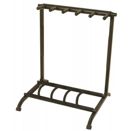 On-Stage Five-Space Foldable Multi-Guitar Rack