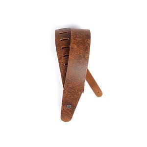 D'Addario D'Addario 2.5 inch Brown Blasted Leather Guitar Strap