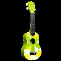 Amahi Green Flower - Soprano Ukulele