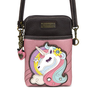 Chala CellPhone Crossbody - Unicorn - glitter pink